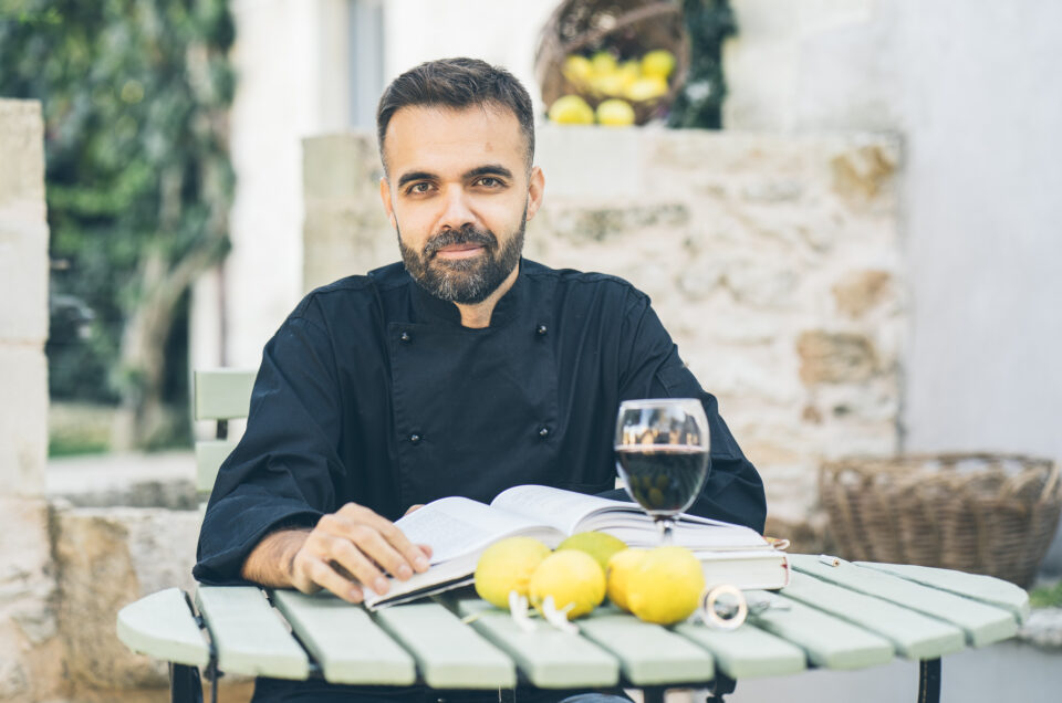 Vassilis Kallimoukos, a private chef at Chania (Crete)